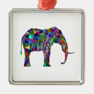 Elephant Revival Silver-Colored Square Ornament