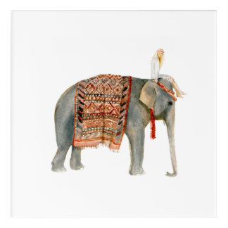 Elephant Ride Acrylic Print