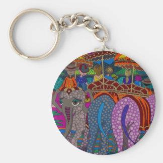 'Elephant Ride' original art products by Gwolly Keychain