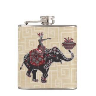 Elephant Rider Hip Flask