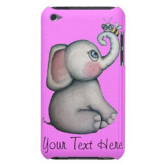 Éléphant rose avec le cas de contact d'iPod d'abei Étui iPod Touch