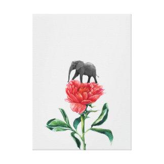 ELEPHANT ROSE CANVAS PRINT