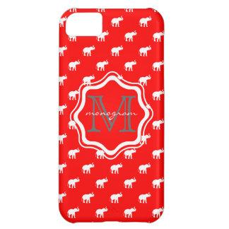 Éléphant rouge dans le polkadot coque iPhone 5C