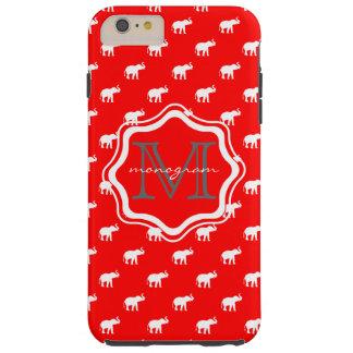 Éléphant rouge dans le polkadot coque tough iPhone 6 plus