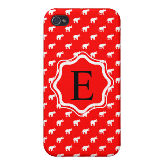 Éléphant rouge dans le polkadot étui iPhone 4