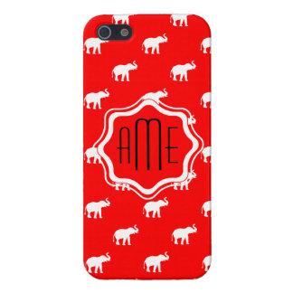 Éléphant rouge dans le polkadot étuis iPhone 5