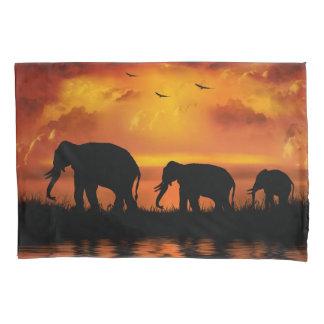 Elephant Safari (1 side) Pillowcase