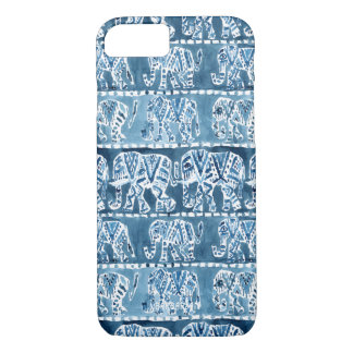 ELEPHANT SAFARI Boho Tribal Indigo iPhone 8/7 Case