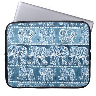 ELEPHANT SAFARI Boho Tribal Indigo Laptop Sleeve