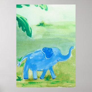 Elephant Safari Friend Poster