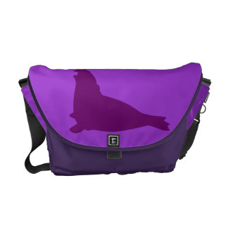 Elephant Seal Medium Messenger Bag Purple