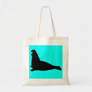 Elephant Seal Tote Bag Black