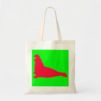 Elephant Seal Tote Bag Red