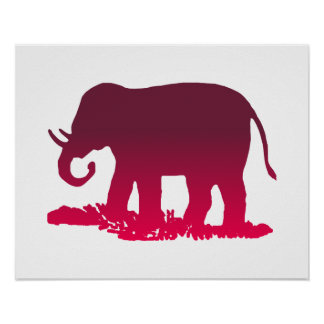 Elephant Shape Poster