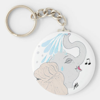 Elephant Shower Keychain