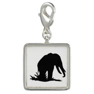 Elephant Silhouette Charm