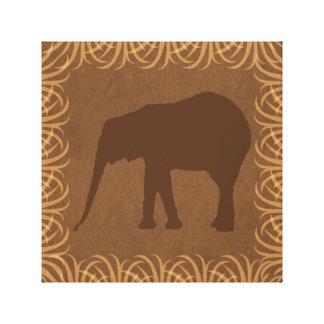 Elephant Silhouette | Facing Left | Safari Theme Canvas Print