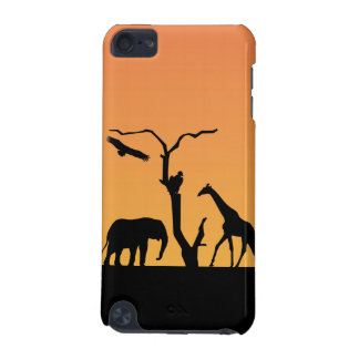 Elephant silhouette sunet ipod touch 4G case