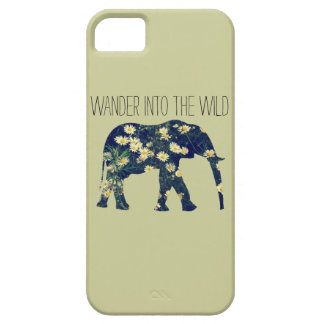 Elephant Silhouette Wanderlust Daisy Hipster Girly iPhone 5 Case