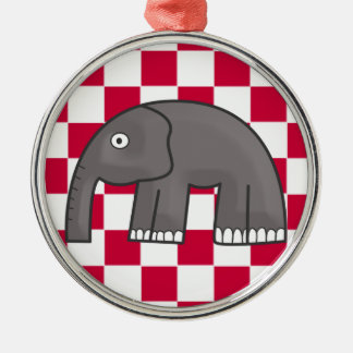 elephant Silver-Colored round ornament