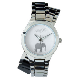 Elephant Silver Elegant Monogram Classy Custom Watch