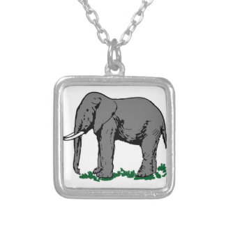 Elephant Silver Plated Necklace