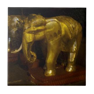 "Elephant Small (4.25"" x 4.25"") Ceramic Photo Tile"