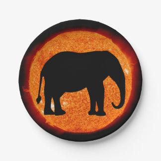 Elephant Solar Eclipse Paper Plate