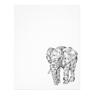 """""""Elephant Spirit"""" v.1 - surreal totem animal Letterhead"""