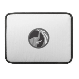 Elephant Spraying Water Mist Circle Retro Sleeve For MacBook Pro