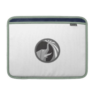 Elephant Spraying Water Mist Circle Retro Sleeves For MacBook Air