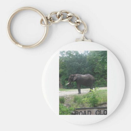 Elephant Standing Regally Keychain