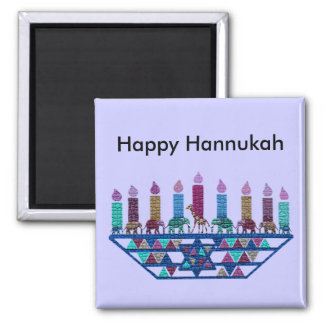 Elephant Star Menorah Magnets