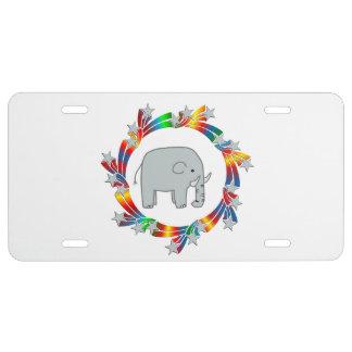 Elephant Stars License Plate