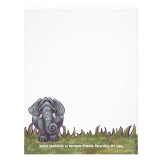 Elephant Stationery Personalized Letterhead