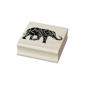 elephant stencil silhouette art stamp