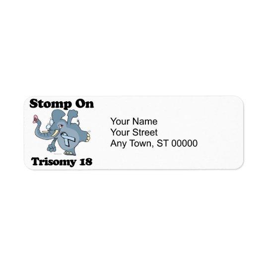 Elephant Stomp On Trisomy 18 Return Address Label