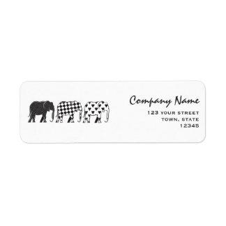 Elephant Stylish Black White Modern Company