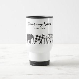 Elephant Stylish Black White Modern Company Travel Mug