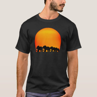 elephant sunrise t-shirt
