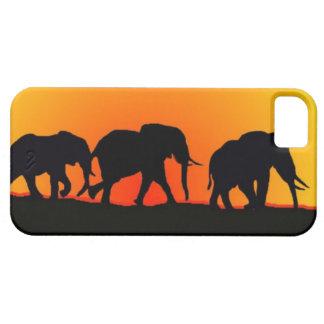 Elephant sunset  Iphone case
