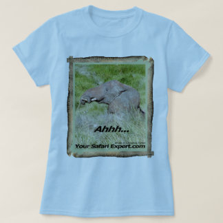 Elephant taking mud bath T-Shirt
