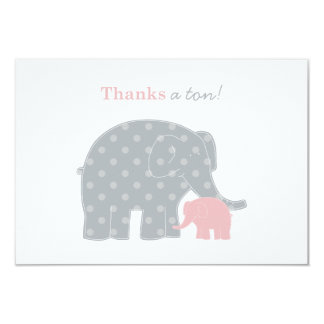 """Elephant Thank You Flat Note Cards 