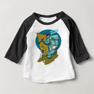elephant the painter is sleeping funny cartoon baby T-Shirt