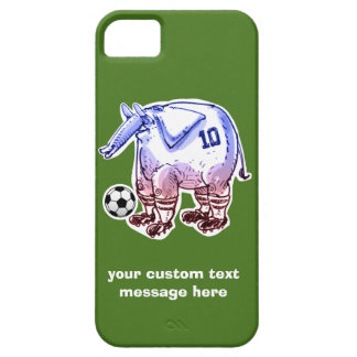 elephant the soccer player with ball iPhone 5 cover