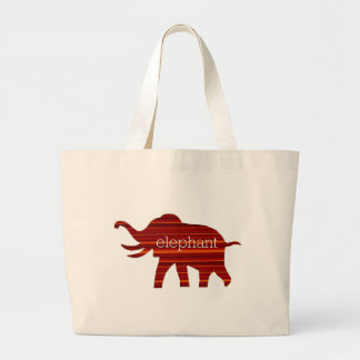ELEPHANT THEATER LARGE TOTE BAG