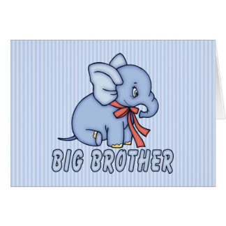 Elephant Toy Big Brother Note Card