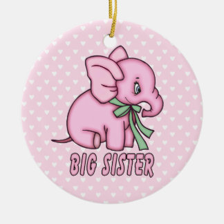 Elephant Toy Big Sister Ceramic Ornament
