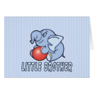 Elephant Toy Little Brother Note Card