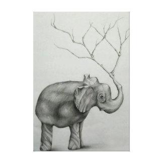 Elephant Tree Canvas Print